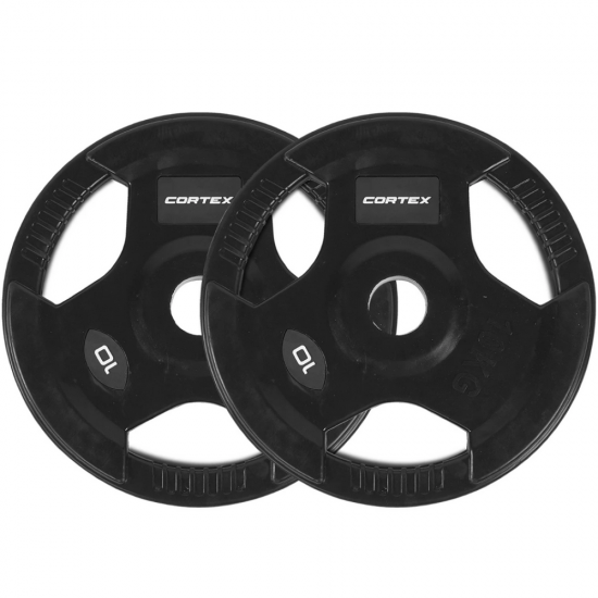 Lifespan Fitness Olympic Tri-Grip 10kg Plate (Pairs)